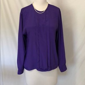 Christian Dior purple blouse size 4
